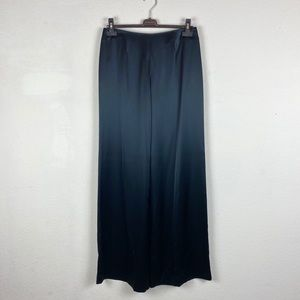 Javier Simorra | Black Silk Wide Leg Pants